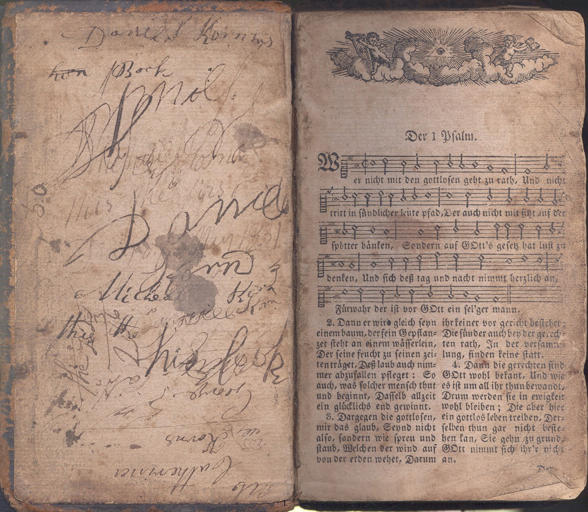 Psalm Book that belonged to Daniel Korn of Southampton Township, Somerset County, PA.