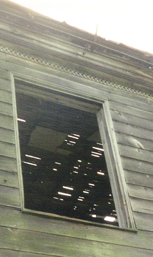 Detail of window and molding on the old farmhouse on the Michael Korns, Sr. Somerset County PA family farm.