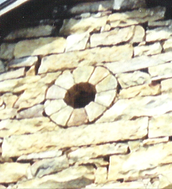 Round portal on stone barn at the Michael Korns, Sr. Somerset County PA farm.