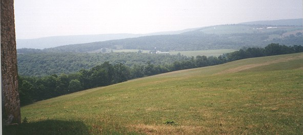 View from the barn of the Michael Korns, Sr. Somerset County PA homestead.