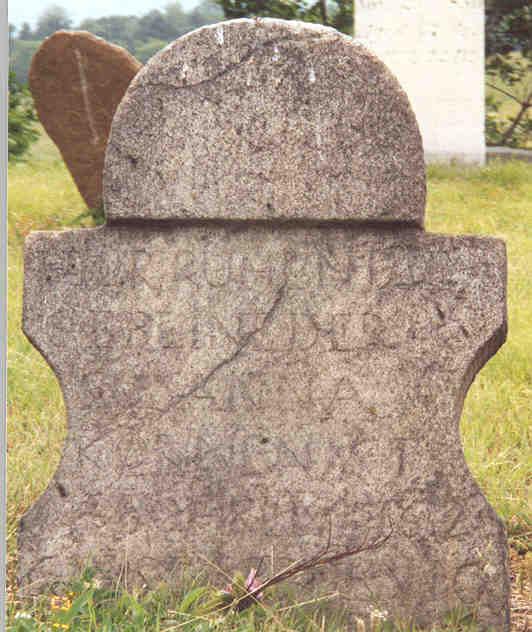 Susanna Korn tombstone, Southampton Township, Somerset County, PA, 2001