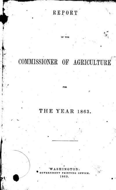 Title page from Daniel Korns 1863 agriculture book.